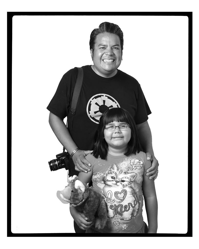 JASON GARCIA with daughter Jasmine, Santa Fe, New Mexico, 2012
