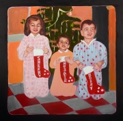 "Christmas Stockings (24"" x 24"")"