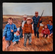 """Hunting Party (24"""" x 24"""")"""