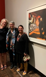 Jill Alhberg Yohe (curator), Rosalie Favell and Teri Greeves (curator)