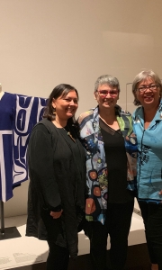 L to R: , Sonya Kelliher-Combs (artist), Rosalie Favell and Dorothy Grant (artist).