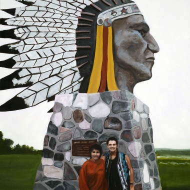 "Indian Head Saskatchewan 1993 | 36"" x 36"" oil on canvas (2015)"