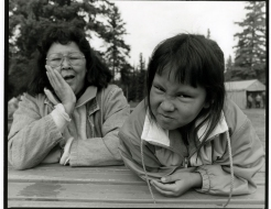 Kathy Mallett and Daughter Skye in Prince Albert (September 7, 1992)