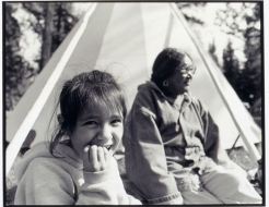 Vicki Wilson and Grandaughter Ashley in Prince Albert (September 7, 1992)