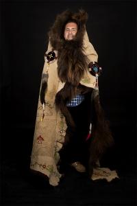 portrait_buffalo-robe_adrian-stimson_by-rosalie-favell