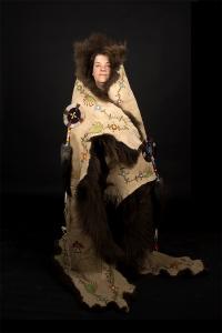 portrait_buffalo-robe_kerri-clarke_by-rosalie-favell