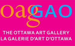 Logo in pink that says The Ottawa Art Gallery / La Galerie D'Art D'Ottawa
